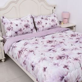 4 Piece Set - Soft and Warm Luxury Duvet Set (1 Duvet, 1 Fitted Sheet KING Size and 2 Pillow Cases)