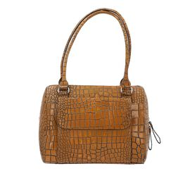 100% Genuine Leather Two Tone Shoulder Bag (Size 29x12x23 Cm) - Beige and Brown