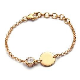 Diamond Bracelet (Size 6 with Extender) in 14K Gold Overlay Sterling Silver