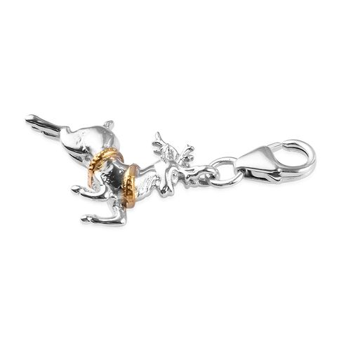 Charms De Memoire - Platinum and Yellow Gold Overlay Sterling Silver Reindeer Charm