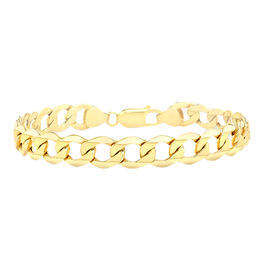 Hatton Garden Close Out 9K Yellow Gold Hollow Curb Bracelet (Size 8.5), Gold wt. 6.31 Gms