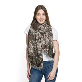 Multi Colour Abstract Pattern Scarf (Size 180x70 Cm)