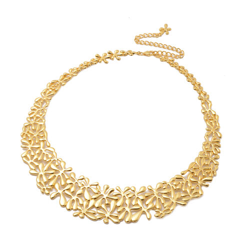 LucyQ Splash Necklace in Yellow Gold Overlay Sterling Silver, Silver wt 77.24 Gms (Size 20)