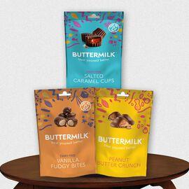 Buttermilk 3 x 100g Dairy Free Chocolatey Bundle