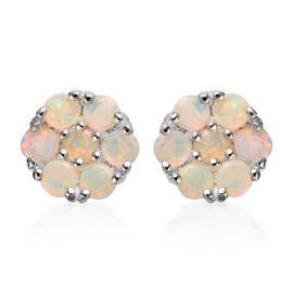 AA Natural Australian Opal Earrings (with Push Back) in Sterling Silver