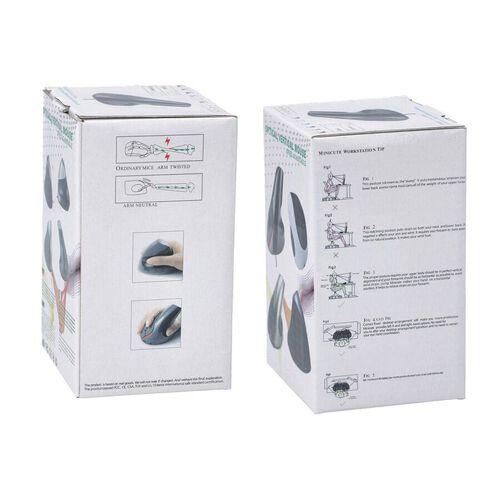 6D Ergonomic Vertical Computer USB Wireless Mouse - Grey