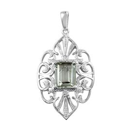 Prasiolite (Oct) Pendant in Platinum Overlay Sterling Silver 3.250 Ct.
