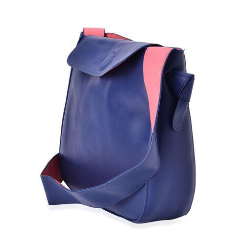 Penny Navy and Pink Colour Shoulder Bag with Shoulder Strap (Size 27x24x8 Cm)