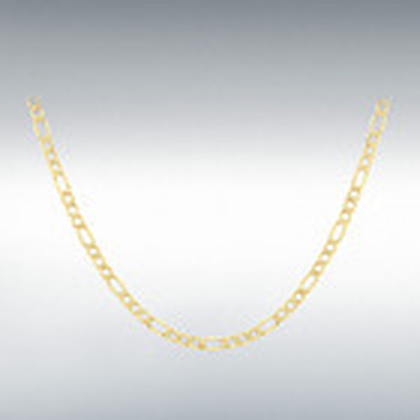 One Time Close Out Deal- 9K Yellow Gold Figaro Necklace (Size 20) with Lobster Clasp, Gold Wt. 5.40 Gms