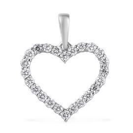 RHAPSODY 950 Platinum IGI Certified Diamond (VS/E-F) Open Heart Pendant 0.50 Ct