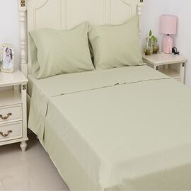 4 Piece Copper Infused Sheet Set - Fitted Sheet (Size 140x190x30 Cm), Flat Sheet (Size 230x265 Cm) a