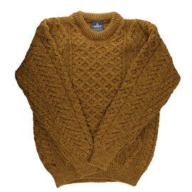 ARAN 100% Pure New Wool Sweater Mustard
