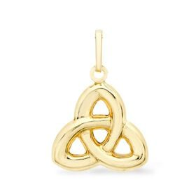 Highly Finished Celtic Knot Pendant in 9k Yellow gold