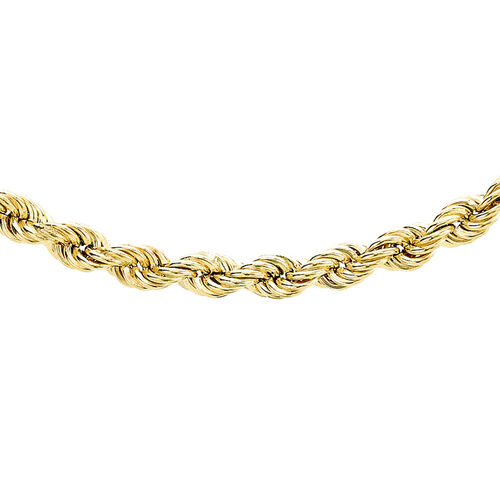 Hatton Garden Close Out 9K Yellow Gold Rope Necklace (Size 18), Gold Wt 5.00 Grams