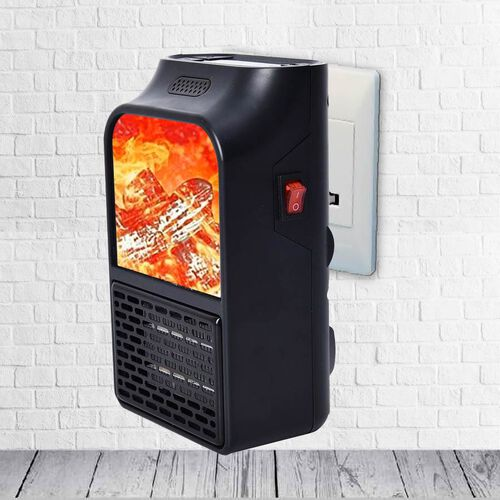 Remote Control Electric Handy Heater 500W Fireplace Design with Rotatable UK Plug