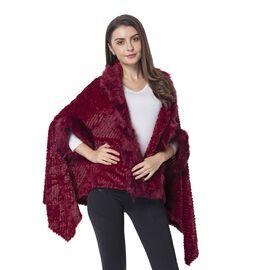 Close Out Deal Red Colour Faux Fur kimono Size 155x81 Cm