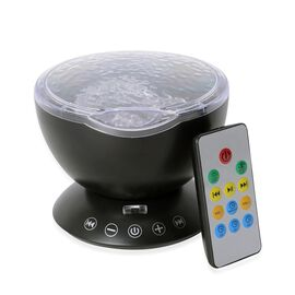 Black Colour Projection Lamp With Multi Colour Lighting Rays and Remote Control with 3 Automatically