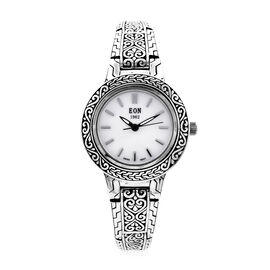 Royal Bali Collection -  EON 1962 Swiss Movement Water Resistant Watch (Size 7.5) in Sterling Silver