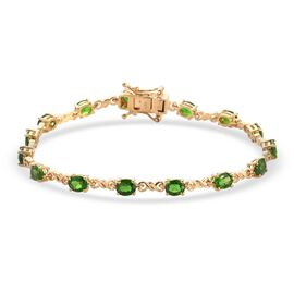 DOD - Russian Diopside Bracelet (Size 7) in 14K Gold Overlay Sterling Silver 6.40 Ct, Silver wt. 6.9
