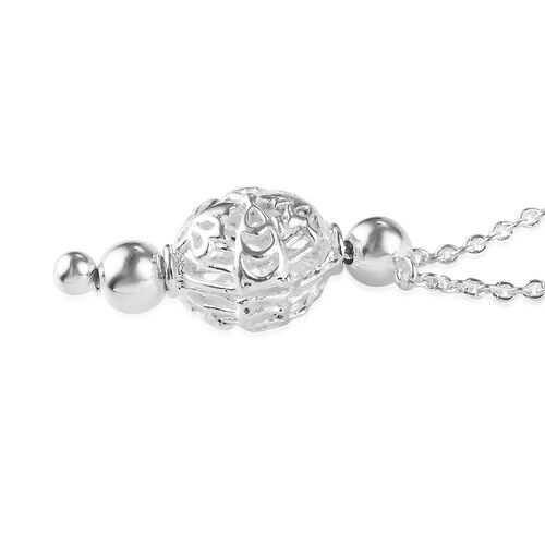 Midnight Mega Deal-Sterling Silver Adjustable Necklace (Size 20), Silver wt 4.74 Gms