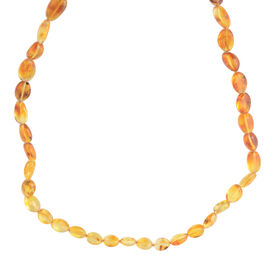 Multi Colour Baltic Amber (Ovl and Rnd) Necklace (Size 32) in Sterling Silver