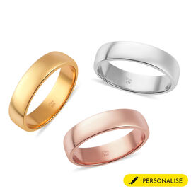 Personalised Engravable 5mm Band Ring in Silver