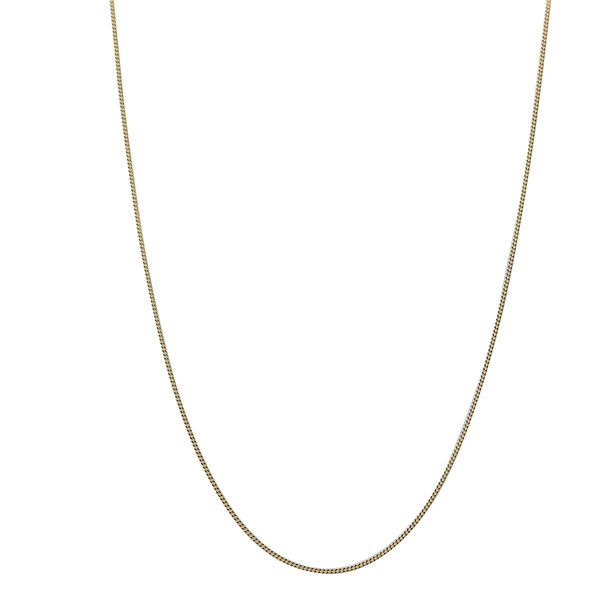 14K Gold Overlay Sterling Silver Adjustable Sliding Curb Chain (Size 22)