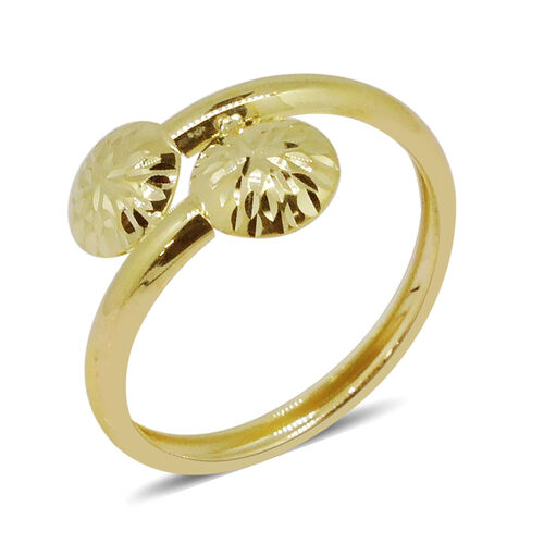 Designer Inspired - 9K Yellow Gold Crossover Ring