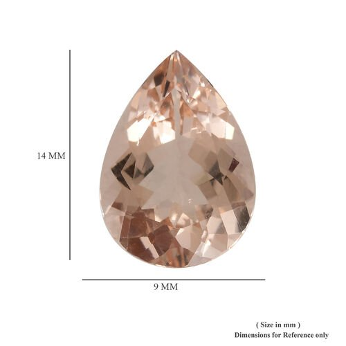 AAAA Morganite Pear 14x10 Faceted 4.13 Cts
