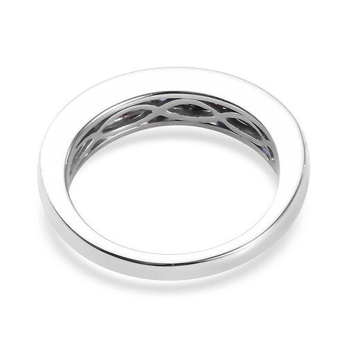 9K White Gold AAA Tanzanite Half Eternity Band Ring 1.15 Ct.