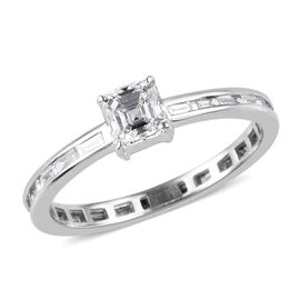 RHAPSODY 950 Platinum Asscher Cut IGI Certified Diamond (VS/E-F) Ring 1.00 Ct.