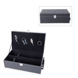Rectangle Shape Wine Box with 4 Pcs Bottle Opener (Wine Corkscrew,Foil Cutter,Wine Pourer and Drip R