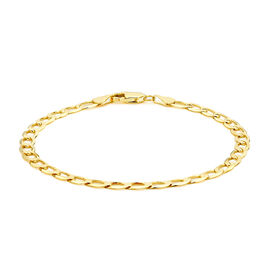 9K Yellow Gold Flat Curb Bracelet (Size 8), Gold wt 4.40 Gms