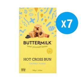 Buttermilk 7 x 100g Hot Cross Bun Fudge box