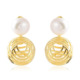 Isabella Liu - Sea Rhyme Collection - Freshwater White Pearl (Rnd), White Mother of Pearl Earrings (