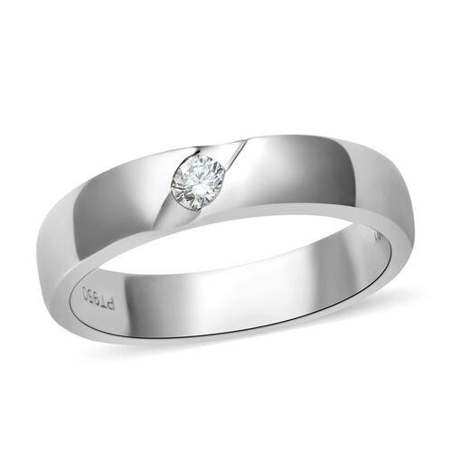 RHAPSODY 950 Platinum IGI Certified Diamond (Rnd) (VS/E-F) Band Ring, Platinum wt 5.8 Gms