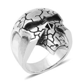 Sterling Silver Skull Ring, Silver wt 17.19 Gms.