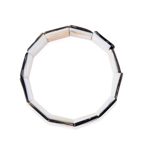 Abalone Shell Stretchable Bracelet (Size 7)