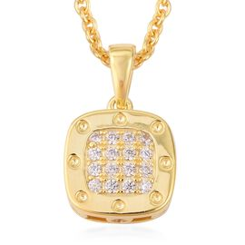 RACHEL GALLEY Majestic Collection Natural White Cambodian Zircon (Rnd), Burmese Ruby Pendant With Ch