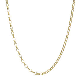 Italian Made- 9K Yellow Gold Oval Belcher Chain (Size - 24) with Spring Ring Clasp, Gold wt. 4.40 Gm