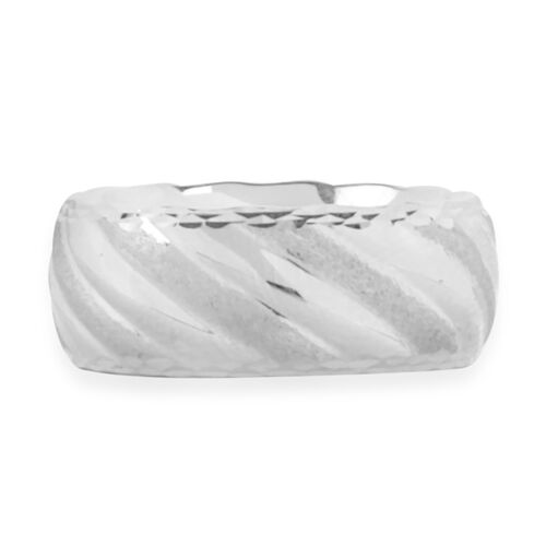 Royal Bali Collection 9K White Gold Band Ring
