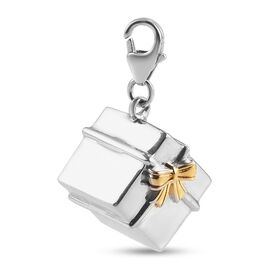 Platinum and Yellow Gold Overlay Sterling Silver Charm,  Sliver Wt. 5.1 Gms