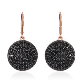 Thai Black Spinel (5.00 Ct) Sterling Silver Earring  5.000  Ct.