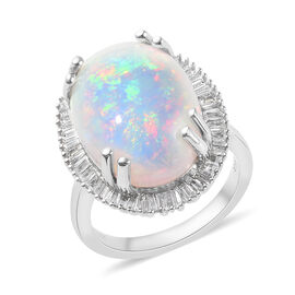 RHAPSODY 950 Platinum Ethiopian Welo Opal and Diamond Ring  9.35 Ct.