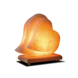 Himalayan Salt Lamp Double Heart Shape (Size 18x15 Cm)