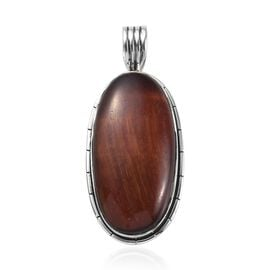 17.94 Ct Red Tiger Eye Solitaire Pendant in Sterling Silver