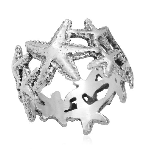 Starfish Ring In Sterling Silver 4.75 Grams
