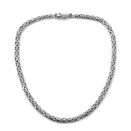 Royal Bali Collection Sterling Silver Borobudur Necklace (Size 20), Silver wt 75.00 Gms