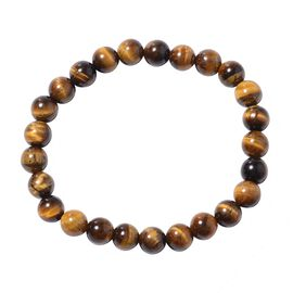 Tigers Eye (Rnd) Strechable Bracelet (Size 7.50) 95.50 Ct.