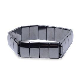 Hematite (Cush) Stretchable Bracelet (Size 7.25) 304.50 Ct.
